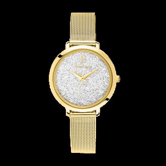 """Montre Pierre Lannier """"La Petite Cristal"""" milanaise dorée 105J508"""