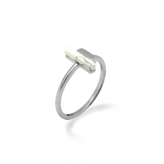 Bague Femme Silver Pop rectangle argent 925/000 et howlite