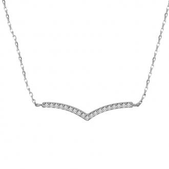Collier CARADOR Femme argent 925/000 pavage zircons
