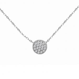 Collier CARADOR Femme argent 925/000 dome pavage oxydes de zirconium