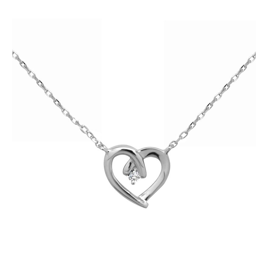 f9bdeec8ccaa4 Collier femme CARADOR coeur argent 925/000 et oxyde de zirconium pour