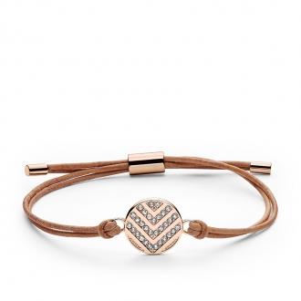 Bracelet Femme Fossil Glitz à chevons doré rose JF02746791