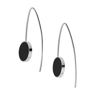Boucles d'oreilles Femme Skagen Ellen noires SKJ0939040