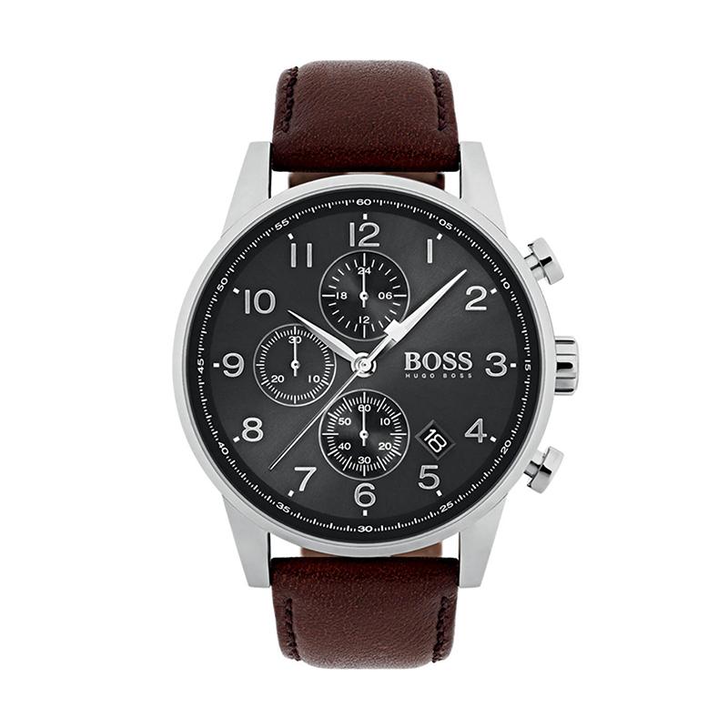 Montre Homme Hugo Boss Navigator cuir marron 1513494