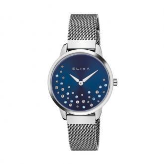 Montre femme Elixa Beauty argentée et bleue E121-L494