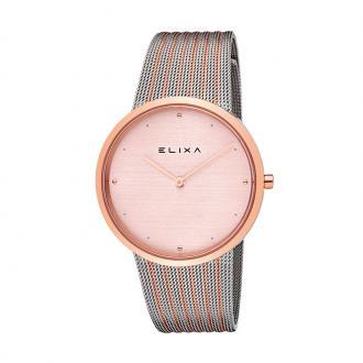Montre Femme Elixa Beauty argentée et dorée rose E122-L499