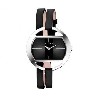 Montre femme Elixa Finesse cuir noir E125-L514
