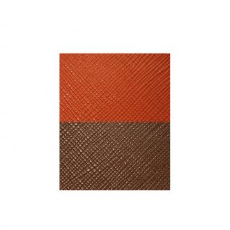 Cuir pour manchette Orange et Marron UBS84024 – LARGE