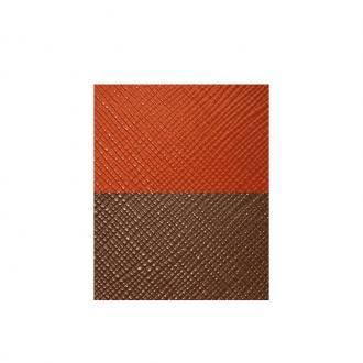 Cuir pour manchette Orange et Marron UBS84033 – SMALL