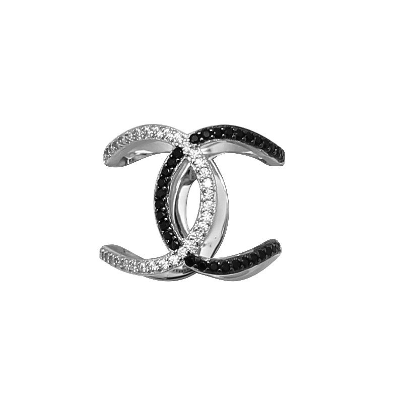 Bague Carador Argent 925/000e Cercles bicolores