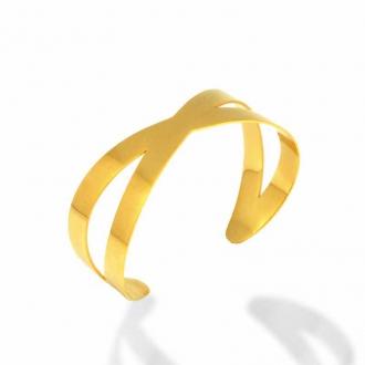 Bracelet Amporelle Jonc acier doré P-BSB1599/IPG