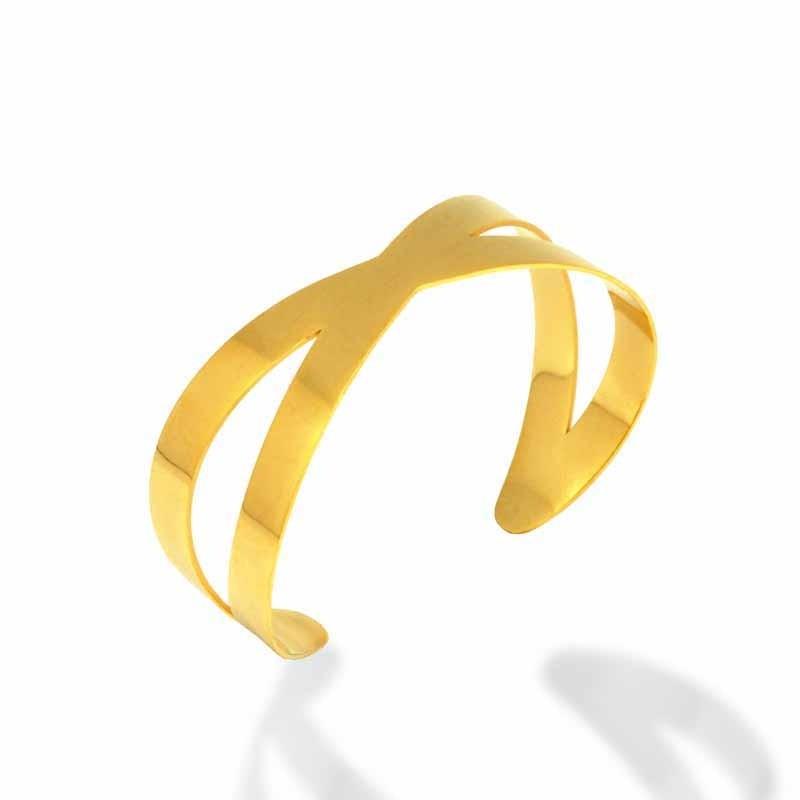 Bracelet Amporelle Jonc acier doré P-BSB1599-IPG