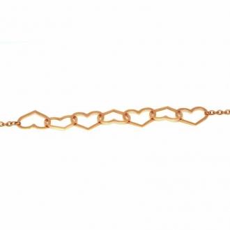 Bracelet Amporelle acier doré rose P-BSB1480/IPRG