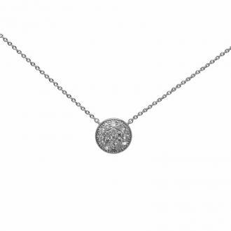 Collier Carador Argent 925/000e pendentif rond