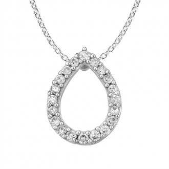 Collier Femme Atelier 17 Pétale or blanc 375/000 et diamants