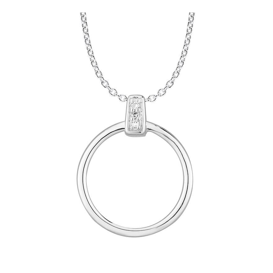 collier femme atelier 17 bulle cercle d cal or blanc 375 000 et diamants. Black Bedroom Furniture Sets. Home Design Ideas