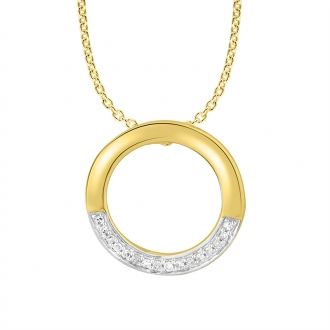 Collier Femme Atelier 17 Bulle bicolore or 375/000 et diamants