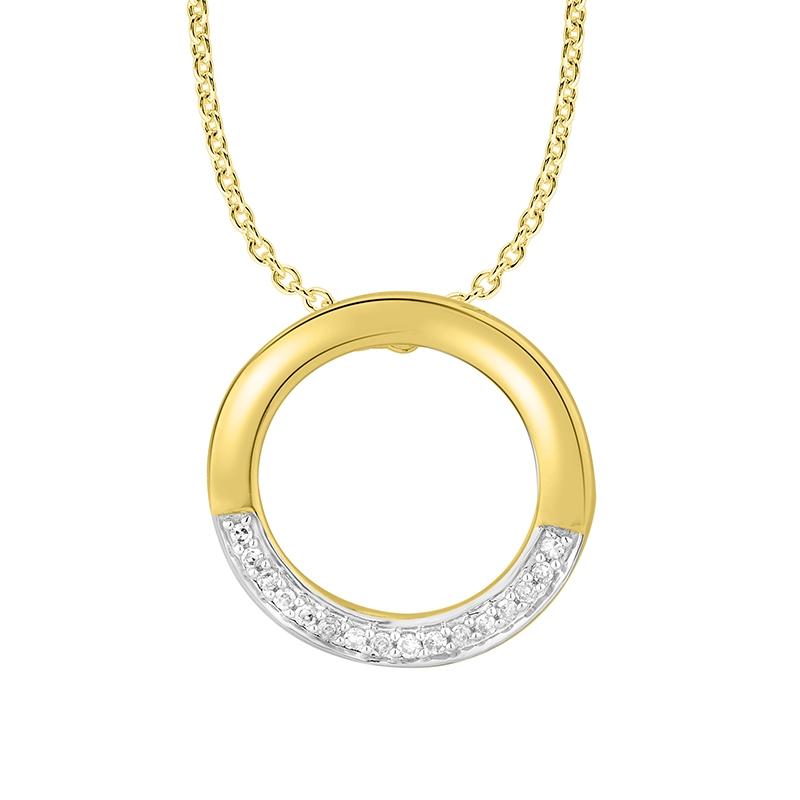 Collier Femme Atelier 17 Bulle bicolore or 375/000 et diamants