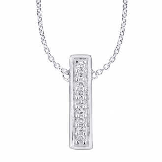 Collier Femme Atelier 17 Ruban totalement empierré de diamants en or blanc 375/000