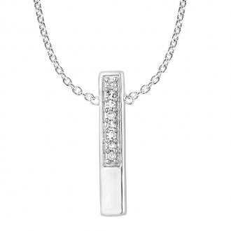 Collier femme Atelier 17 Ruban partiellement empierré de diamants en or blanc 375/000
