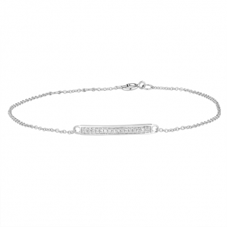 Bracelet femme Atelier 17 Ruban totalement empierré de diamants en or blanc 375/000