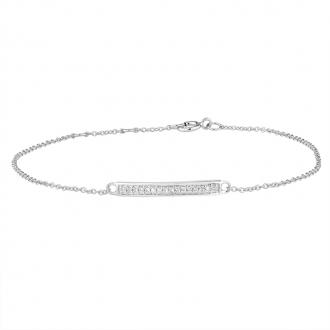 Bracelet femme Atelier 17 Ruban totalement empierré de diamants en or blanc 375/000