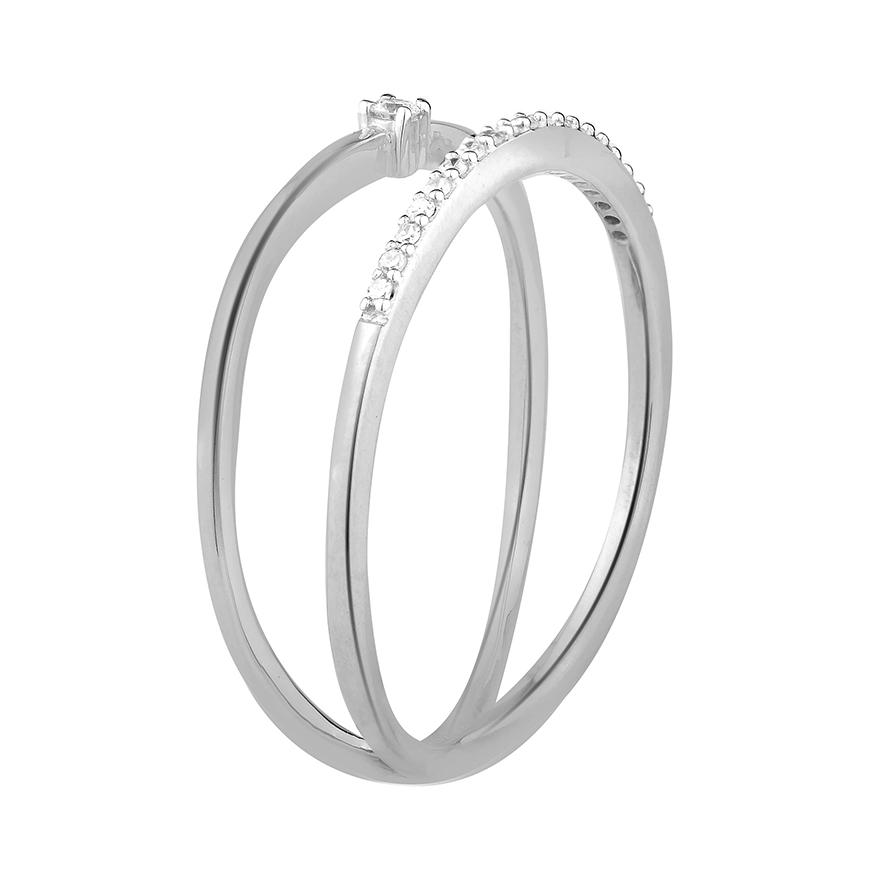 b475390c757 Bague Femme Atelier 17 Pure double anneau or blanc 375 000 et diamants