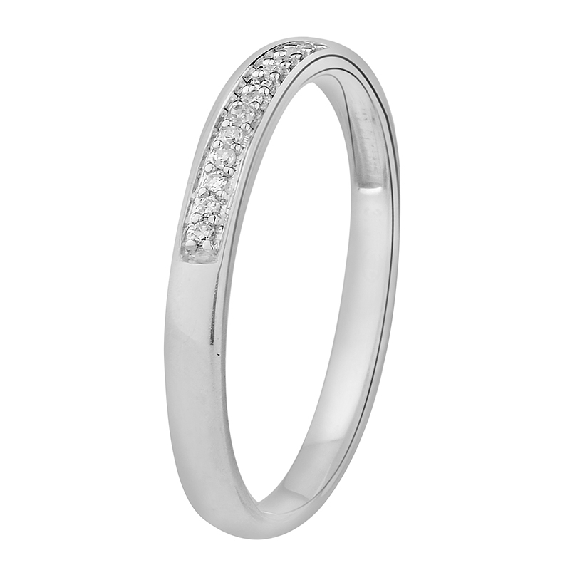 Bague Femme Atelier 17 Ruban medium empierré de diamants en or blanc 375/000