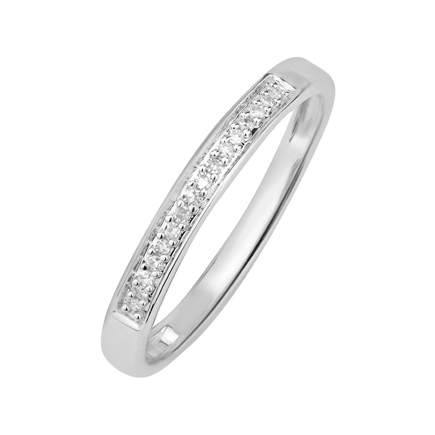 Bague femme large or blanc