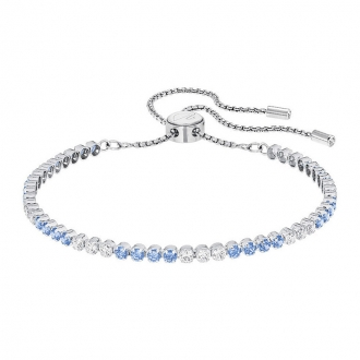 Bracelet Swarovski Subtel argenté bleu 5253276