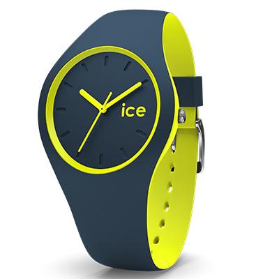 montre ice watch duo taille s bleu et jaune 012970 pour femme. Black Bedroom Furniture Sets. Home Design Ideas