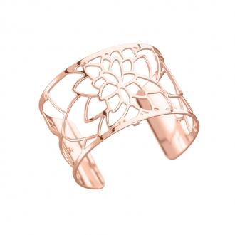 Bracelet manchette Les Georgettes Nenuphar Large finition or rose brillant 70284024000000