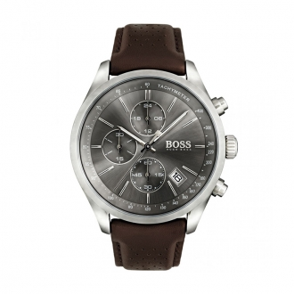 Montre Homme Hugo Boss Grand Prix cuir marron 1513476
