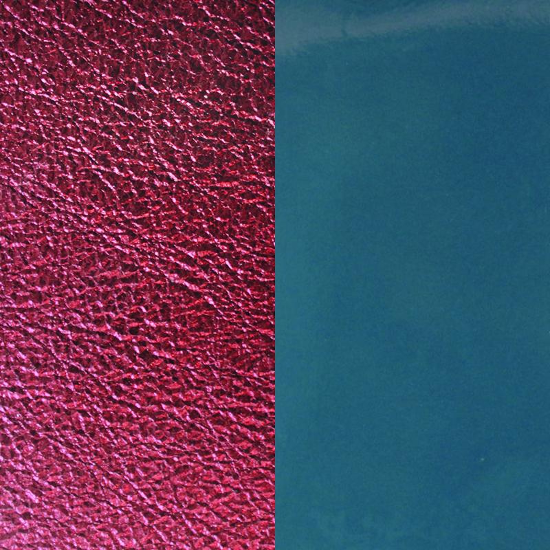 Cuir pour manchette 40 mm Les Georgettes Bleu Jeans Vernis/Bordeau Métallisé 702145799BH000