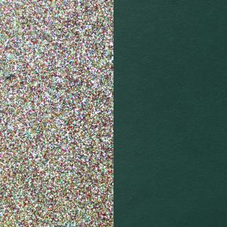 Cuir pour manchette 40 mm Les Georgettes Paillettes multicolores/Vert canard 702145799BI000