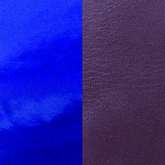 Cuir pour manchette 25 mm Les Georgettes Prune/Vernis bleu