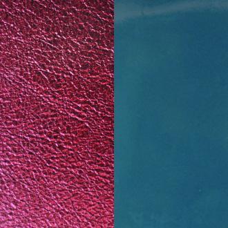 Cuir pour manchette 25 mm Les Georgettes Bleu Jeans Vernis/Bordeau Métallisé 702755199BH000