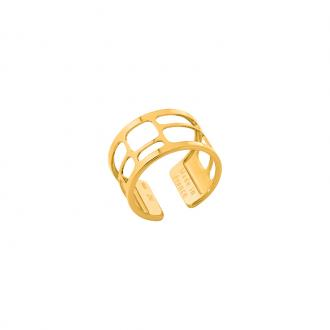 Bague Les Georgettes Labyrinthe finition or brillant 12 mm