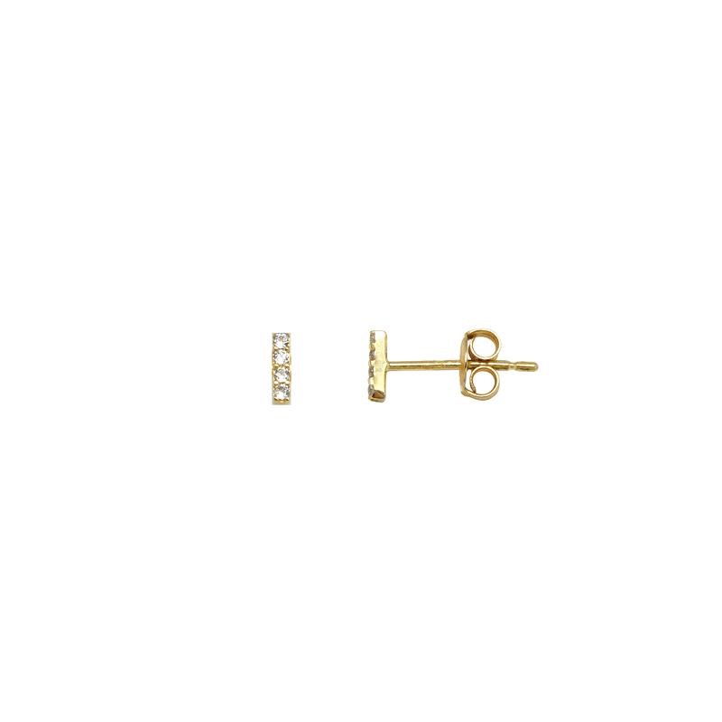 Boucles d'oreilles carador or jaune formé de 4 bijoux en carré FE3429