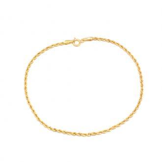 Bracelet Carador Or jaune375/000 Maille corde H26025CNJ18