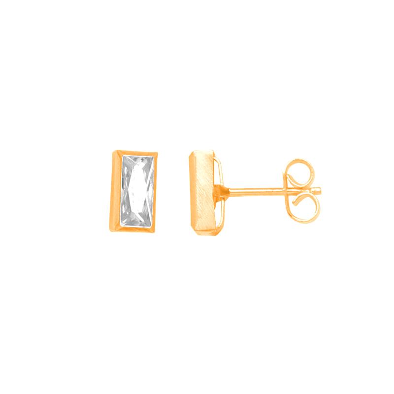 Boucles d'oreilles carador Or jaune femme formerectangle PCI-36