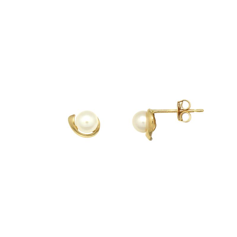 Boucles d'oreilles Carador Or jaune femme 375/000 et perle PE0058