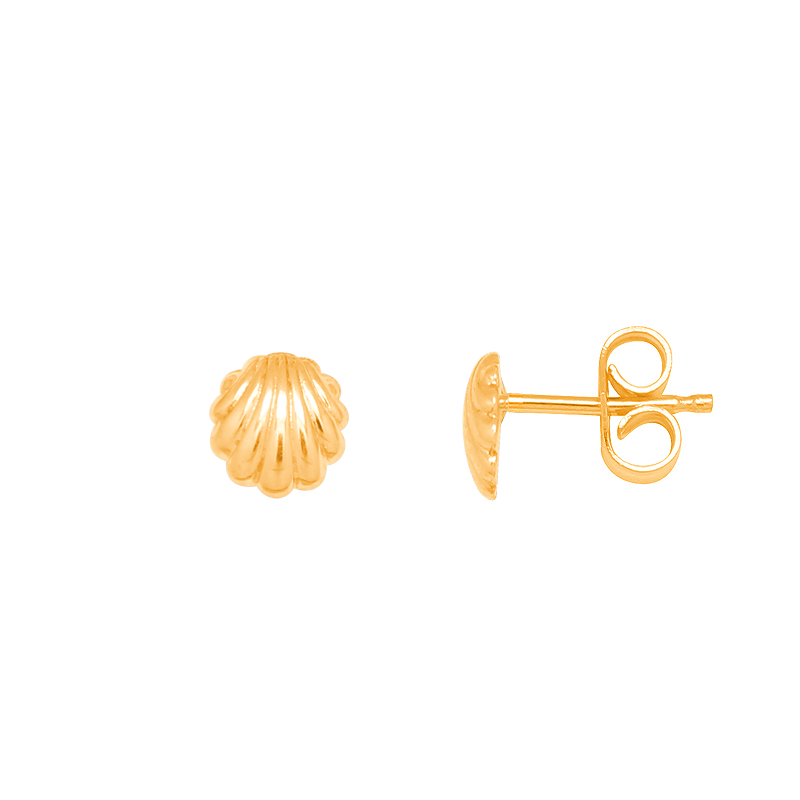 Boucles d'oreilles carador Or jaune 375/000e CoquillagePX-1
