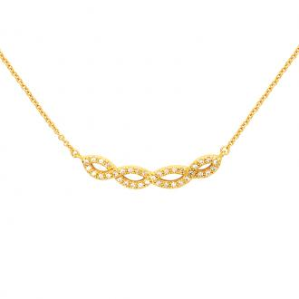 Collier Carador plaqué or 52ER054CZ