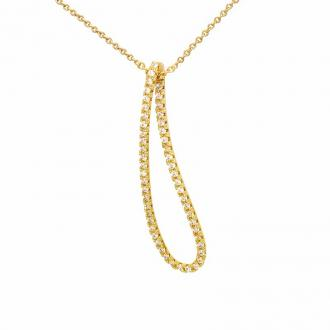 Collier Carador Plaqué or Larme 52HR075CZ