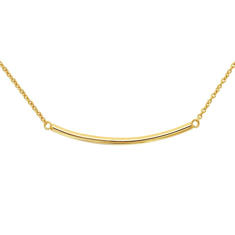 Collier Carador Plaqué or doré forme linéaire 52EU0151