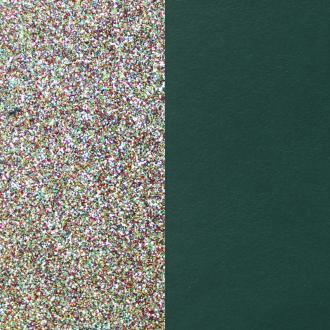 Cuir pour manchette14 mm Les Georgettes Paillettes multicolores/Vert canard 702145899BI000