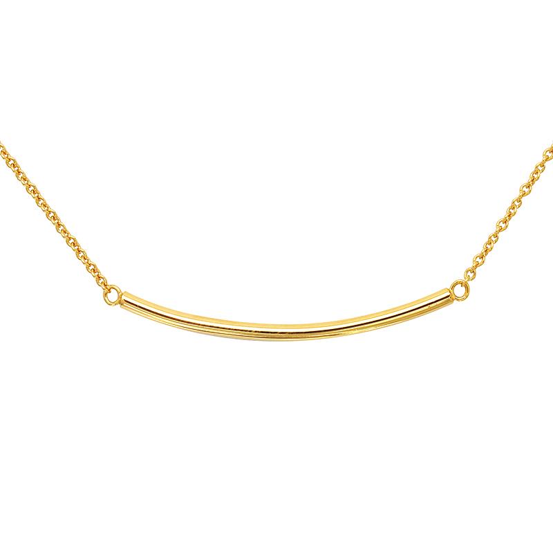 Collier Carador Plaqué or doré forme linéaire 52EU0150