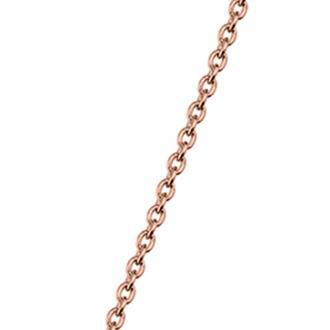 Chaine Les Georgettes 43/45 cm Finition doré rose