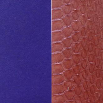 Cuir pour manchette 40 mm Les Georgettes Bleu Serpent d'eau terracotta/Violet 702145799BC000